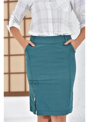 Rodi Jeans Kadın Kısa Fermuarlı Etek Ty16Yb071802 Renkli